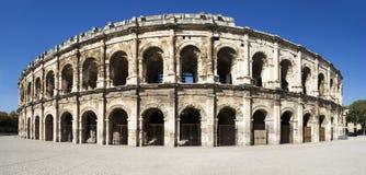 Exterior da arena de Nîmes, França Fotografia de Stock
