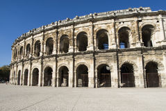 Exterior da arena de Nîmes, França Fotografia de Stock Royalty Free