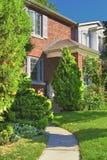 Exterior da casa do tijolo Imagem de Stock