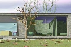 Exterior da casa luxuosa ilustração do vetor