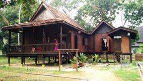 Exterior da casa malaio antiga Foto de Stock Royalty Free