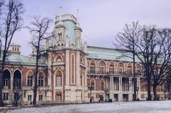 Exterior da construção principal na Museu-reserva de Tsaritsyno em Moscou fotos de stock royalty free