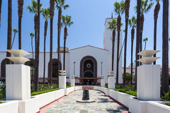 Exterior da estação da união de Los Angeles imagem de stock royalty free