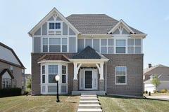 Exterior da HOME suburbana Fotografia de Stock Royalty Free