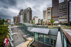 The exterior of Da'an Park Station, in the Da'an District, of Ta. Ipei, Taiwan royalty free stock image