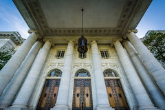 The exterior of the DAR Constitution Hall, in Washington, DC. Royalty Free Stock Photo