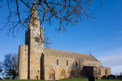 Exterior. Dating from the seventh century AD, the south side of the anglo-saxon christian church of All Saints at Brixworth, Northamptonshire (formerly the saxon Stock Photography
