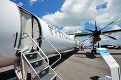 Exterior de aviões de passageiro do Bombardier Q400 Imagem de Stock