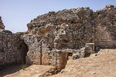 Exterior de baños públicos en Aptera, Creta Imagen de archivo libre de regalías
