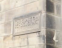 Exterior de Glasgow School del edificio del arte, Escocia, diseñada por el arquitecto Charles Rennie Mackintosh fotografía de archivo