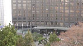 Exterior de Hilton Hotel, Seoul, Coreia do Sul vídeos de arquivo