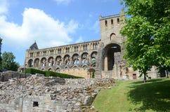 Exterior de la abadía de Jedburgh Imagenes de archivo