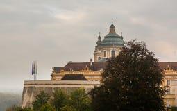 Exterior de la abadía de Melk en Austria Imagen de archivo libre de regalías