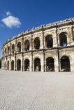 Exterior de la arena de Nîmes, Francia Imagen de archivo libre de regalías