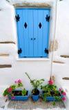 Exterior de la casa griega Imágenes de archivo libres de regalías