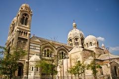 Exterior de la catedral de Marsella fotografía de archivo libre de regalías