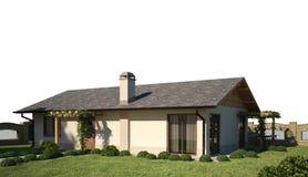 Exterior de la escena de la casa 3d Imagen de archivo