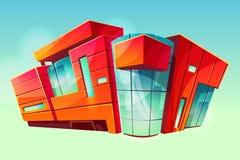 Exterior de la fachada del vector del edificio del supermercado de la alameda libre illustration