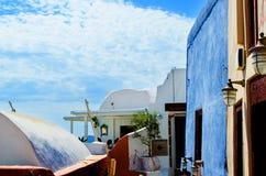 Exterior de la isla de Onthera Santorini Oia de la casa en Grecia Fotos de archivo libres de regalías
