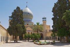 Exterior de la mezquita del Ebn-e Hamzeh de Emamzadeh-YE Ali en Shiraz, Irán imagen de archivo