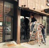 Exterior de la renovación del restaurante imagen de archivo libre de regalías