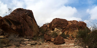 Exterior de la roca de Laas Geel de las pinturas de cuevas, Hargeisa, Somalia Imagen de archivo