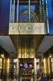 Exterior de la tienda al por menor de Gucci Imagenes de archivo