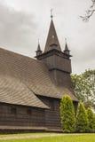 Exterior de St John la iglesia baptista - Orawka, Polonia. fotografía de archivo