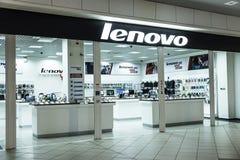 Exterior de Lenovo da loja Imagem de Stock