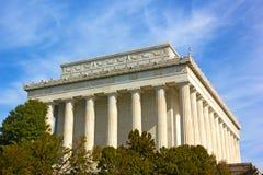 Exterior de Lincoln Memorial no Washington DC, EUA fotos de stock