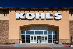 Exterior de los grandes almacenes de Kohl Imágenes de archivo libres de regalías