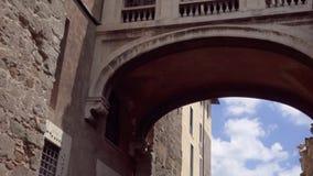 Exterior de los museos de Capitoline en Capitol Hill en Roma, Italia Cámara que se levanta en la cámara lenta almacen de metraje de vídeo
