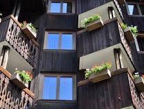 Exterior de madera de la casa Imagen de archivo libre de regalías
