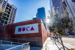 Exterior de MOCA Imágenes de archivo libres de regalías