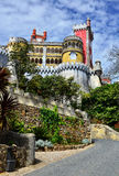 Exterior de Palacio a Dinamarca Pina, Sintra, Portugal Fotografia de Stock Royalty Free