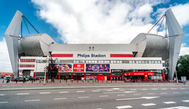 Exterior de Philips Stadion fotos de stock