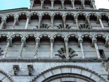 Exterior de San Michel del Forno Church Lucca Italy Imagenes de archivo