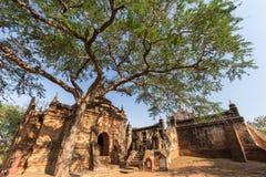 Exterior de um templo em Bagan Foto de Stock Royalty Free