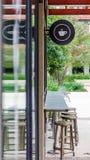 Exterior de uma cafetaria Fotografia de Stock Royalty Free