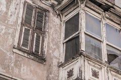 Exterior de un edificio abandonado Imagen de archivo