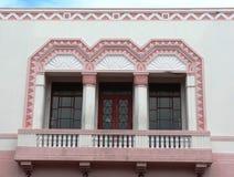 Exterior de un edificio del Arte-Deco Fotografía de archivo libre de regalías