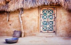 Choza del pueblo Foto de archivo libre de regalías