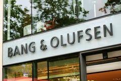 Exterior de una tienda de Bang & Olufsen Imágenes de archivo libres de regalías