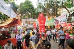 Exterior of decorated Durga Puja pandal, at Kolkata, West Bengal, India. Royalty Free Stock Image