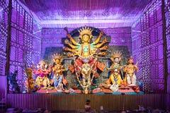 Exterior of decorated Durga Puja pandal, at Kolkata, West Bengal, India. Royalty Free Stock Images