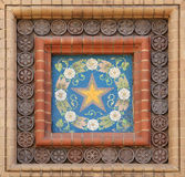 Exterior decoration of the mosaic on the Church of the Savior on Stock Photo