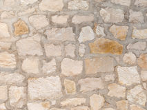 Exterior decorative sandstone wall Stock Photography