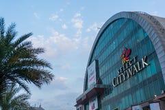 Exterior del citywalk Delhi Select Fotografía de archivo