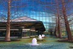 Exterior del edificio de la fuente en Dallas, Tejas Imagen de archivo