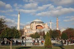 Exterior del Hagia Sophia - Aya Sophia también llamada, en Estambul, Turquía Imágenes de archivo libres de regalías